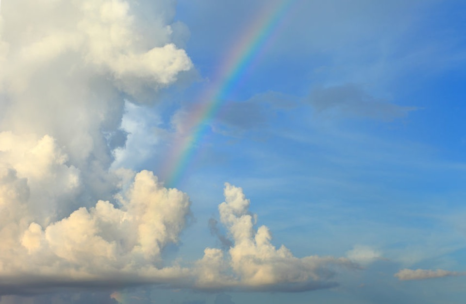 blue sky rainbow