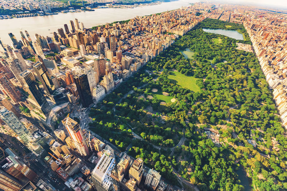 60901811 - aerial view of manhattan new york looking north up central park